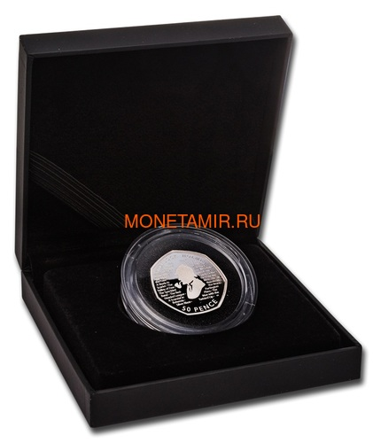 Великобритания 50 пенсов 2019 Шерлок Холмс (UK 50 pence 2019 Sherlock Holmes Proof Silver Coin).Арт.000416057339/65 (фото, вид 2)