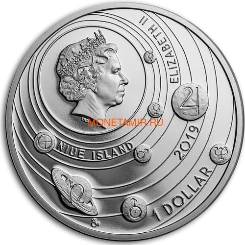 Ниуэ 1 доллар 2019 Солнечная Система Солнце (Niue 1$ 2019 Solar System Sun 1Oz Silver Coin).Арт.67 (фото, вид 1)