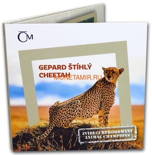 Ниуэ 1 доллар 2019 Гепард Животные Чемпионы (Niue 1$ 2019 Cheetah Animal Champions 1 oz Silver Coin) Буклет.Арт.67 (фото, вид 4)