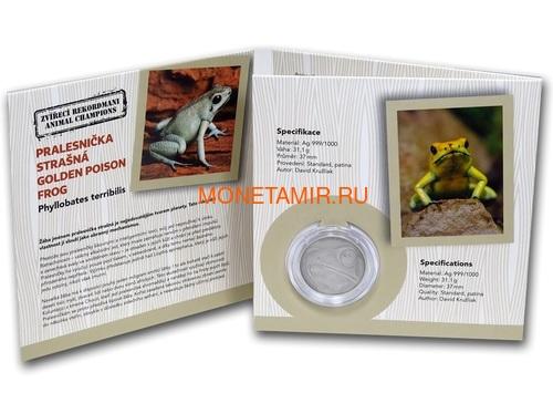 Ниуэ 1 доллар 2019 Лягушка Животные Чемпионы (Niue 1$ 2019 Frog Animal Champions 1 oz Silver Coin) Буклет.Арт.67 (фото, вид 4)