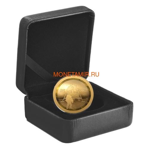Канада 100 долларов 2019 Аполлон 11 Высадка на Луну 50 лет Космос Выпуклая Форма (Canada 100$ 2019 Apollo 11 Moon Landing 50th Anniversary Gold Coin).Арт.65 (фото, вид 3)