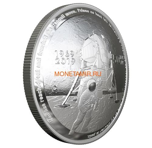 Канада 25 долларов 2019 Аполлон 11 Высадка на Луну 50 лет Космос Выпуклая Форма (Canada 25$ 2019 Apollo 11 Moon Landing 50th Anniversary Silver Coin).Арт.65 (фото, вид 1)