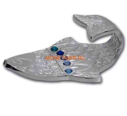 Камерун 2000 франков 2018 Рыба Загадать Желание Набор 3 Монеты (Cameroon 2000 Francs 2018 Make a Wish Fish 3D Swarovski Silver Coin Set).Арт.66 (фото, вид 3)