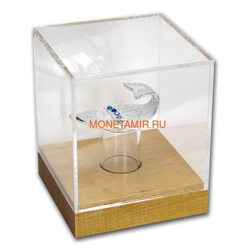 Камерун 2000 франков 2018 Рыба Загадать Желание Набор 3 Монеты (Cameroon 2000 Francs 2018 Make a Wish Fish 3D Swarovski Silver Coin Set).Арт.66 (фото, вид 6)