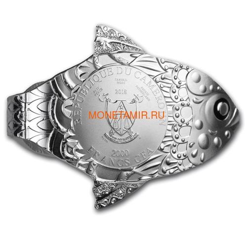 Камерун 2000 франков 2018 Рыба Загадать Желание Набор 3 Монеты (Cameroon 2000 Francs 2018 Make a Wish Fish 3D Swarovski Silver Coin Set).Арт.66 (фото, вид 4)