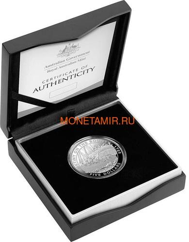 Австралия 5 долларов 2019 Мятеж на Баунти Корабль (Australia 5$ 2019 Mutiny on the Bounty Ship 1 oz Silver Coin).Арт.65 (фото, вид 2)