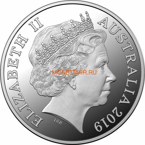 Австралия 5 долларов 2019 Мятеж на Баунти Корабль (Australia 5$ 2019 Mutiny on the Bounty Ship 1 oz Silver Coin).Арт.65 (фото, вид 1)