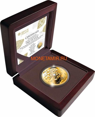 Ниуэ 100 долларов 2019 Дерево Удачи Бриллиант (Niue 100$ 2019 Tree of Luck Diamond 1,5 Oz Gold Coin).Арт.75 (фото, вид 2)