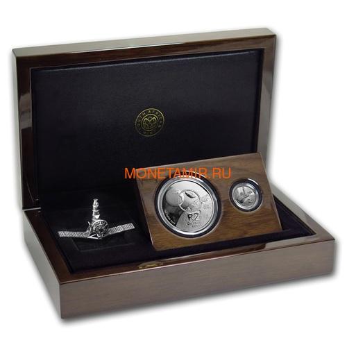 Южная Африка 2 ранда + 2,5 цента 2019 Аполлон 11 и Рейнджер Космос Набор 2 Монеты (2019 South Africa R2 and 2,5c Inventions Polymer Putty Moon Landing Silver Proof Set).Арт.75 (фото, вид 6)