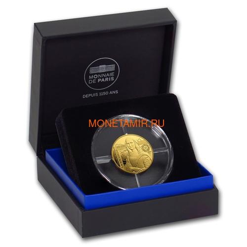 Франция 50 евро 2019 Мона Лиза Леонардо Да Винчи серия Музеи Франции (2019 France 50E Monna Lisa Gold Coin).Арт.75 (фото, вид 2)