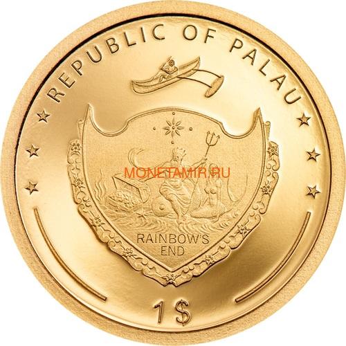 Палау 1 доллар 2020 Клевер На Удачу (Palau 1$ 2020 Good Luck 4-leaf Clover).Арт.65 (фото, вид 1)