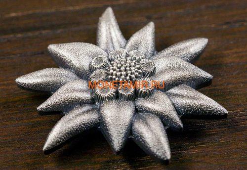 Монголия 500 тугриков 2019 Эдельвейс Горная Звезда Фигурка (Mongolia 500T 2019 Edelweiss Mountain Star 1 oz Silver Coin).Арт.65 (фото, вид 2)