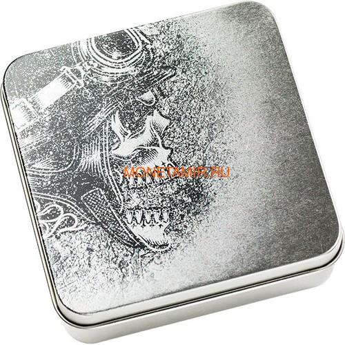 Палау 5 долларов 2019 Череп Байкера (Palau 5$ 2019 Biker Skull 1 oz Silver Coin).Арт.65 (фото, вид 5)