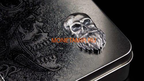 Палау 5 долларов 2019 Череп Байкера (Palau 5$ 2019 Biker Skull 1 oz Silver Coin).Арт.65 (фото, вид 4)