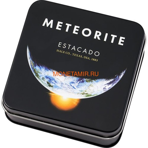 Острова Кука 2 доллара 2019 Метеорит Эстакадо (Cook Isl 2$ 2019 Meteorite Estacado ½ Oz Titanium Silver).Арт.65 (фото, вид 2)