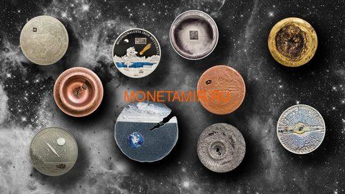 Острова Кука 2 доллара 2019 Метеорит Эстакадо (Cook Isl 2$ 2019 Meteorite Estacado ½ Oz Titanium Silver).Арт.65 (фото, вид 3)