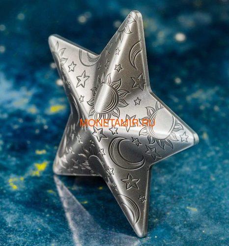 Палау 5 долларов 2018 Мерцающая Звезда (Palau 5$ 2018 Twinkling Star 1 oz Silver Coin).Арт.65 (фото, вид 1)