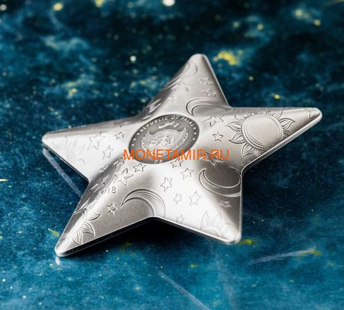 Палау 5 долларов 2018 Мерцающая Звезда (Palau 5$ 2018 Twinkling Star 1 oz Silver Coin).Арт.65 (фото, вид 4)