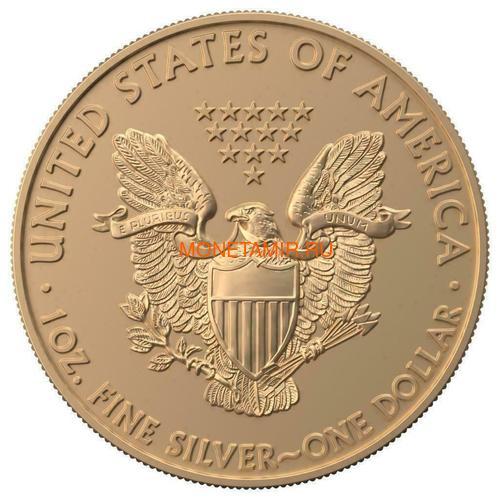 Соединенные Штаты Америки 1 доллар 2019 Сердце Опал Амулет Свобода (2019 USA 1$ Liberty Opal Heart Amulet 1oz Silver Coin).Арт.65 (фото, вид 3)