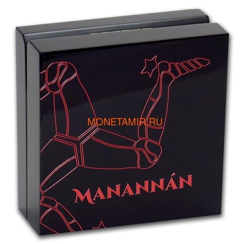 Остров Мэн 5 фунтов 2019 Мананнан Первый Король Острова Мэн Кельтский Крест (Isle of Man 5£ 2019 Manannán 1st King of Mann 3 Oz Coin Silver).Арт.65 (фото, вид 3)