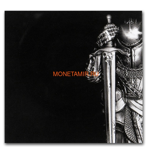Остров Мэн 5 фунтов 2019 Мананнан Первый Король Острова Мэн Кельтский Крест (Isle of Man 5£ 2019 Manannán 1st King of Mann 3 Oz Coin Silver).Арт.65 (фото, вид 4)