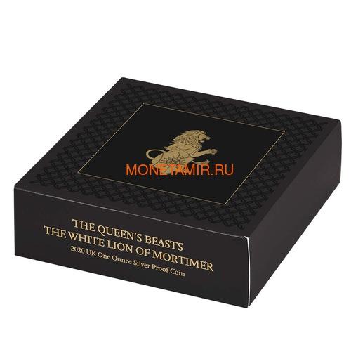 Великобритания 2 фунта 2020 Белый Лев Мортимера серия Звери Королевы (GB 2£ 2020 Queen's Beast White Lion of Mortimer Silver Coin).Арт.65 (фото, вид 4)