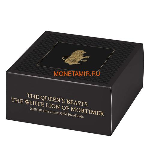 Великобритания 100 фунтов 2020 Белый Лев Мортимера серия Звери Королевы (GB 100£ 2020 Queen's Beast White Lion of Mortimer Gold Coin).Арт.65 (фото, вид 4)