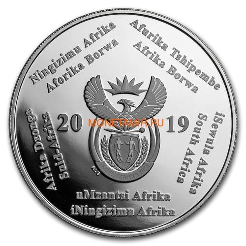 Южная Африка 2 ранда + 2,5 цента 2019 Аполлон 11 и Рейнджер Космос Набор 2 Монеты (2019 South Africa R2 and 2,5c Inventions Polymer Putty Moon Landing Silver Proof Set).Арт.000555857599/75 (фото, вид 2)