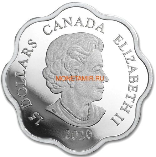 Канада 15 долларов 2020 Год Крысы Лунный Календарь серия Лотос (Canada 15$ 2020 Year of the Rat Lunar Lotus Silver Coin Proof).Арт.000450657572/65 (фото, вид 2)
