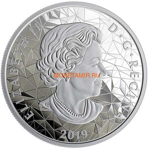 Канада 25 долларов 2019 Медведь Гризли Многогранная Голова (Canada 25$ 2019 Grizzly Bear Multifaceted Animal Head 1 oz Silver Coin).Арт.65 (фото, вид 2)