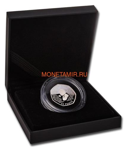 Великобритания 50 пенсов 2019 Шерлок Холмс Пьедфорт (UK 50 pence 2019 Sherlock Holmes Silver Proof Piedfort Coin).Арт.000648557624/65 (фото, вид 4)