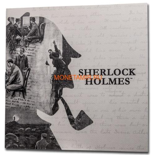 Великобритания 50 пенсов 2019 Шерлок Холмс Пьедфорт (UK 50 pence 2019 Sherlock Holmes Silver Proof Piedfort Coin).Арт.000648557624/65 (фото, вид 6)