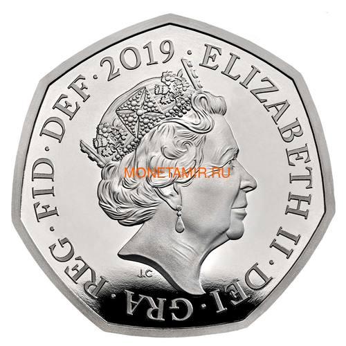 Великобритания 50 пенсов 2019 Шерлок Холмс Пьедфорт (UK 50 pence 2019 Sherlock Holmes Silver Proof Piedfort Coin).Арт.000648557624/65 (фото, вид 2)