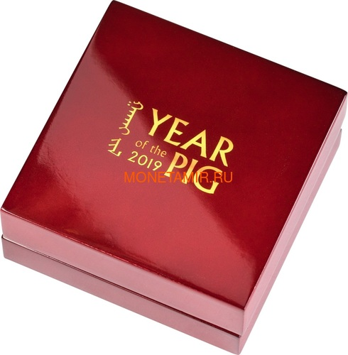 Монголия 1000 тугриков 2019 Веселая Свинья Фигурка (Mongolia 1000 Togrog 2019 Gilded Jolly Pig Silver Coin 1oz).Арт.000697957128/65 (фото, вид 5)