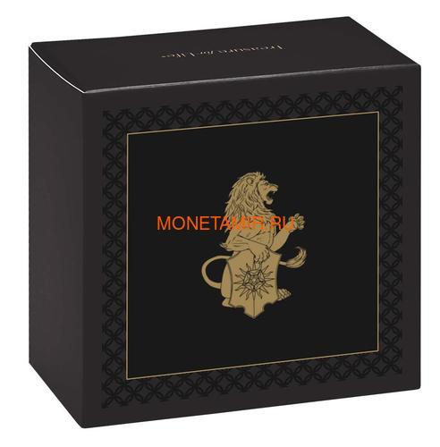 Великобритания 25 фунтов 2020 Белый Лев Мортимера серия Звери Королевы (GB 25£ 2020 Queen's Beast White Lion of Mortimer Quarter-Ounce Gold Coin).Арт.65 (фото, вид 3)