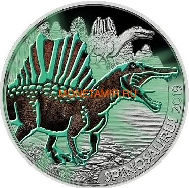 Австрия 3 евро 2019 Спинозавр серия Суперзавры (Supersaurs The Spinosaurus Austria 3 euro 2019).Арт.65 (фото, вид 1)