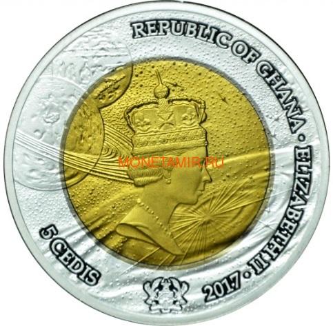 Гана 5 седи 2017 Исследования Космос Формула Эйнштейна Телескоп Биметалл (Ghana 5 cedis 2017 Exploration I Space Travel Silver Tantal Coin).Арт.000484654920/65 (фото, вид 1)
