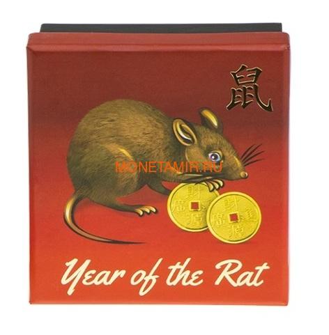Ниуэ 1 доллар 2020 Год Крысы Лунный Календарь (Niue 1$ 2020 Year of the Rat Lunar Proof).Арт.65 (фото, вид 2)