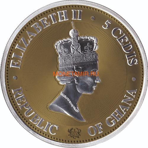 Гана 5 седи 2019 Сокровища Вселенной III Юпитер Космос (Ghana 2019 5 cedis Treasures of the Universe III Coin 1oz Silver).Арт.65 (фото, вид 1)