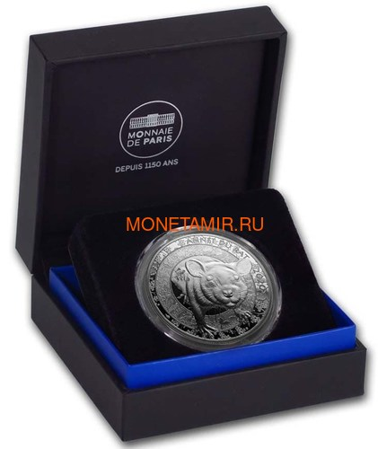 Франция 10 евро 2020 Год Крысы Лунный календарь (France 10E 2020 Year of the Rat Lunar Silver Coin).Арт.000332357892/65 (фото, вид 3)