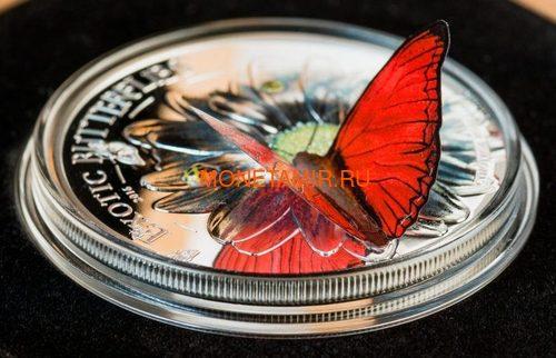 Камерун 1000 франков 2011 Бабочка Харакс серия Экзотические Бабочки 3D (Cameroon 1000 Francs 2011 Exotic Butterflies Charaxes Fournierae 3D Silver Coin).Арт.000190534492/60 (фото, вид 1)