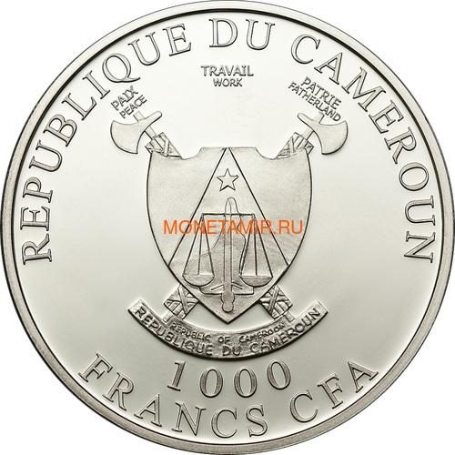 Камерун 1000 франков 2011 Бабочка Харакс серия Экзотические Бабочки 3D (Cameroon 1000 Francs 2011 Exotic Butterflies Charaxes Fournierae 3D Silver Coin).Арт.000190534492/60 (фото, вид 2)