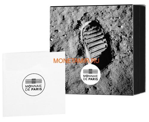 Франция 50 евро 2019 Первый Шаг на Луну 50 лет Космос (France 50E 2019 First Step on the Moon 50th Anniversary Silver Coin).Арт.002615457876/67 (фото, вид 3)