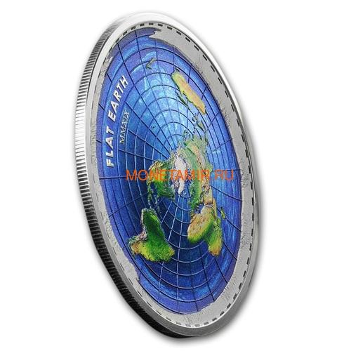 Палау 10 долларов 2019 Плоская Земля серия Великие Заговоры (Palau 10$ 2019 Flat Earth Great Conspiracies 2oz Silver Coin).Арт.001742757841/65 (фото, вид 1)