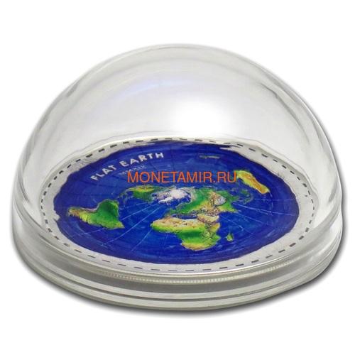 Палау 10 долларов 2019 Плоская Земля серия Великие Заговоры (Palau 10$ 2019 Flat Earth Great Conspiracies 2oz Silver Coin).Арт.001742757841/65 (фото, вид 3)
