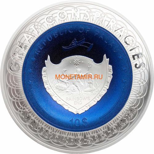Палау 10 долларов 2019 Плоская Земля серия Великие Заговоры (Palau 10$ 2019 Flat Earth Great Conspiracies 2oz Silver Coin).Арт.001742757841/65 (фото, вид 2)