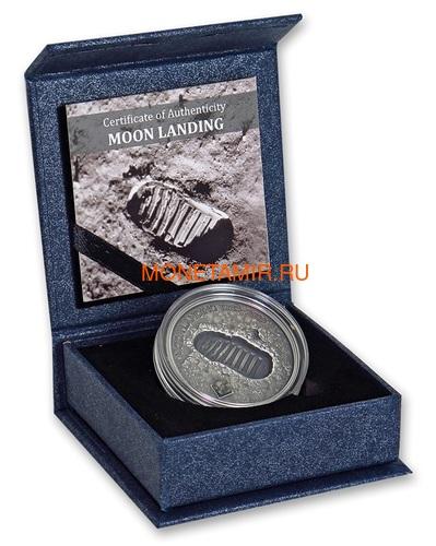 Острова Кука 5 долларов 2019 Высадка на Луну След Метеорит ( Cook Islands 5$ 2019 Moon Landing Footprint Meteorite 1 Oz Silver Coin).Арт.000950657847/65 (фото, вид 2)