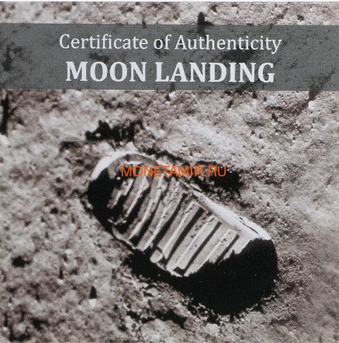 Острова Кука 5 долларов 2019 Высадка на Луну След Метеорит ( Cook Islands 5$ 2019 Moon Landing Footprint Meteorite 1 Oz Silver Coin).Арт.000950657847/65 (фото, вид 3)