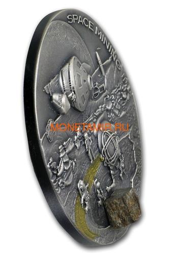 Ниуэ 1 доллар 2019 Космическая Добывающая Станция II Метеорит (Niue 1$ 2019 Space Mining Station II 1Oz Silver Coin).Арт.000712957851/65 (фото, вид 1)