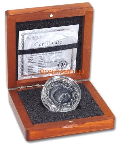 Ниуэ 1 доллар 2019 Лунный Кратер Коперник Метеорит NWA 8609 Кратеры Вселенной (Niue 1$ 2019 Copernicus Moon Meteorite NWA 8609 Universal Craters 1Oz Silver Coin).Арт.000792257849/65 (фото, вид 4)